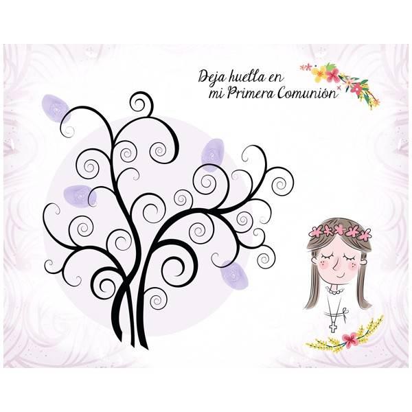arboles de huellas para comuniones niñas - ARBOLES HUELLAS COMUNION